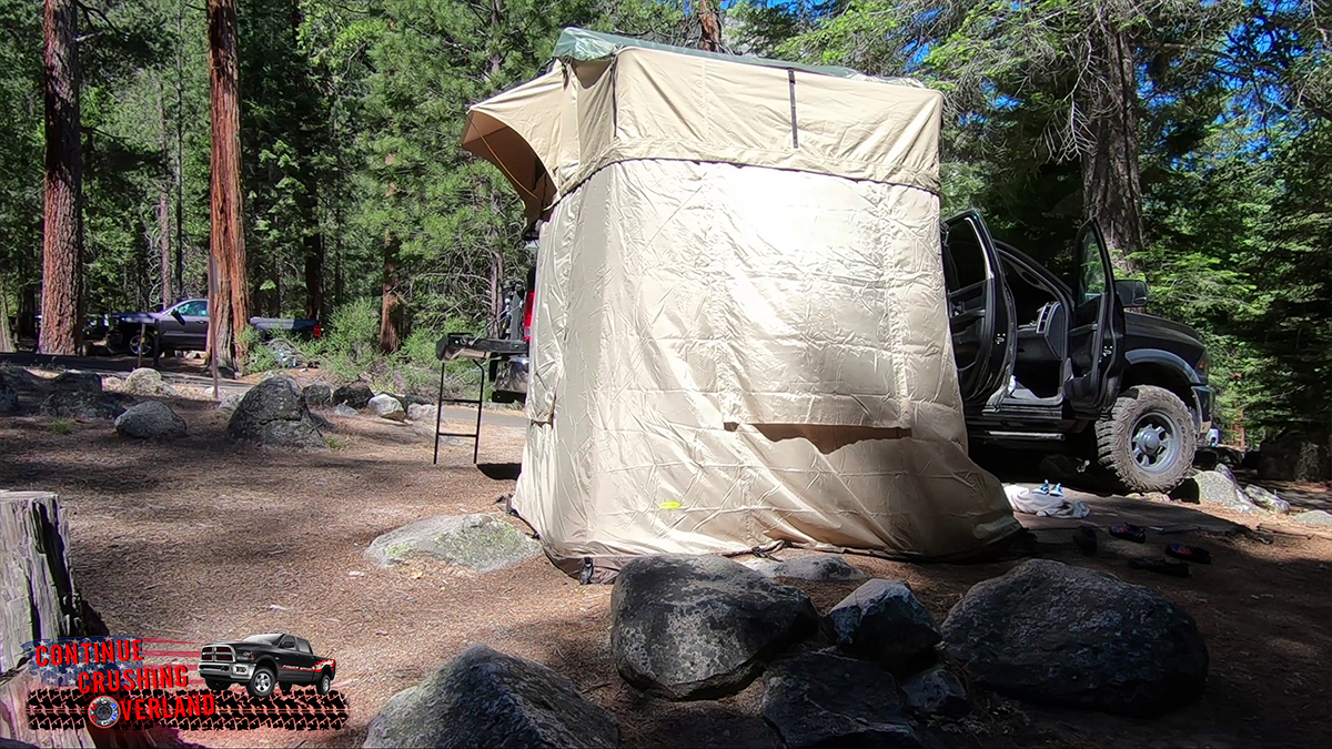 smittybilt overlander xl tent with annex 2888 2883 continue crushing overland review