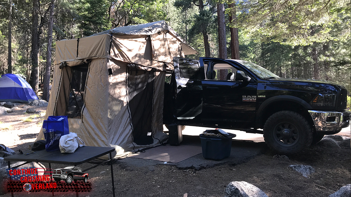 smittybilt overlander xl tent with annex 2888 2883 continue crushing overland