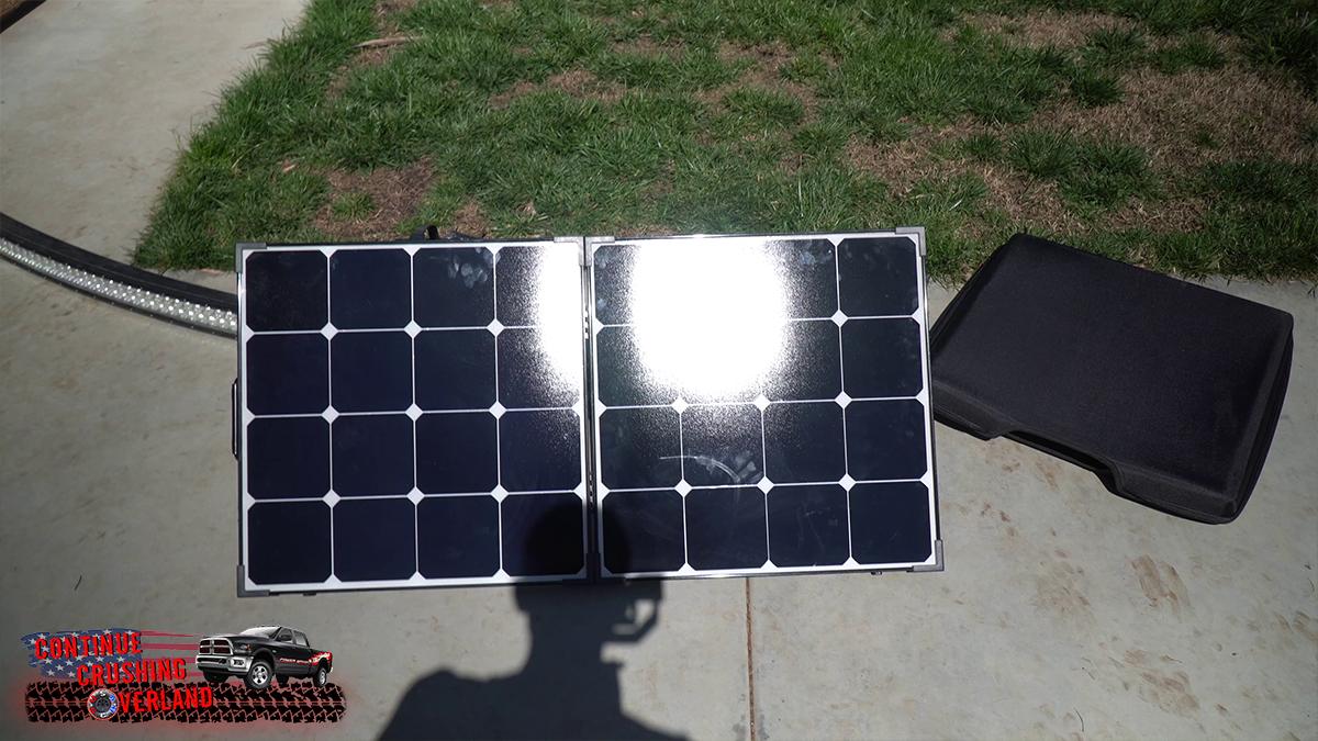 renogy 100w folding suitcase solar panel mppt vs pwm test continue crushing overland