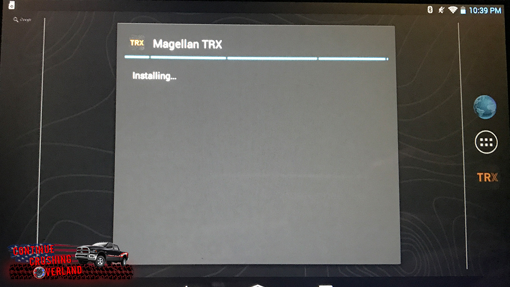 magellan trx7 update installing screen continue crushing overland