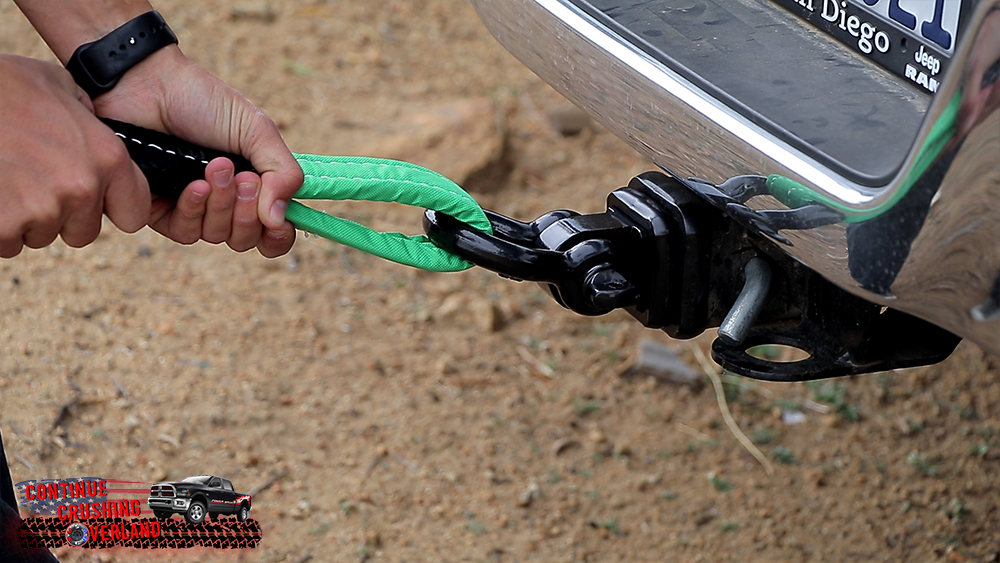 rhino usa hitch receiver with strap attached continue crushing overland